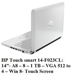 hp touch smart 14-f023cl