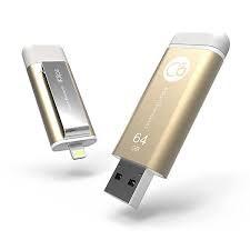 حافظه فلش / Flash Memory آدام المنت-ADAM elements 64GB iKlips Lightning-USB 3.0