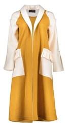 پالتو-بارانی -کاپشن زنانه پروچیستا-PROCHISTA - پالتو بلند زنانه - خردلی و سفید
