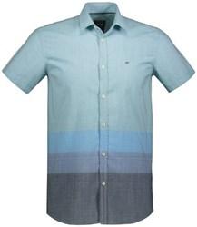پیراهن مردانه ال سی وایکیکی-LC Waikiki نخی آستین کوتاه - رنگ آبی دریایی - AQUA