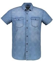 پیراهن مردانه ال سی وایکیکی-LC Waikiki جین آستین کوتاه - رنگ آبی - MEDIUMRODEO