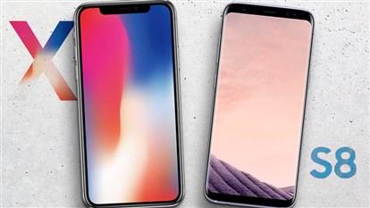 مقایسه آیفون X  اپل با گلکسی نوت 8  کدام بهتر  است؟ آیفون X بخریم یا نوت 8