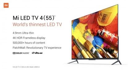 شیائومی از تلویزیون  هوشمند 55 اینچی Mi LED TV 4 با کیفیت 4k رونمایی کرد