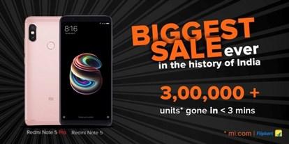 تمامی موجودی گوشی ردمی نوت 5 پرو شیائومی ظرف چند ثانیه به فروش رفت
