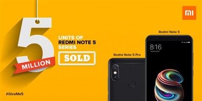 فروش Redmi Note 5 و Redmi Note 5 Pro به پنج میلیون واحد رسید