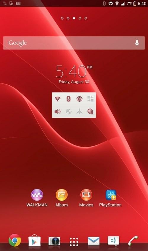نرم افزار تصاویر Xperia Z Ultra