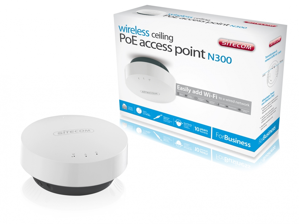 اکسس پوینت -  Access Point -sitecom Wireless Ceiling PoE WLX-3000B N300