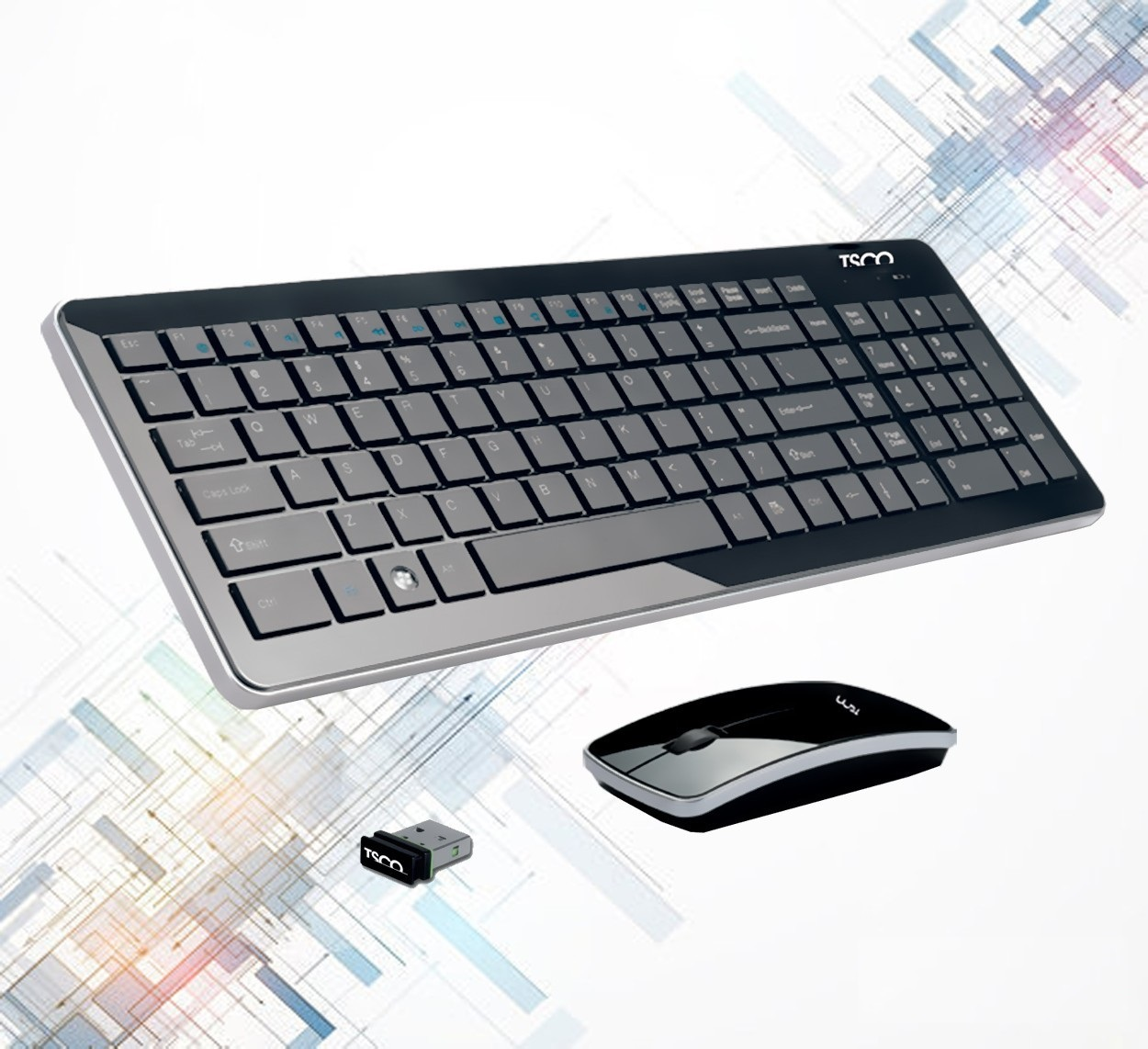 لوازم  ویبراتور قیمت خرید و فروش كيبورد + موس تسکو-TSCO TKM 7400w - فروشندگان