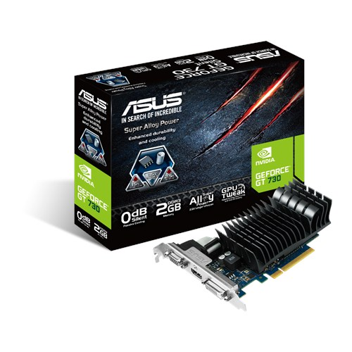 عکس كارت گرافيك - VGA - Asus / ايسوس GT730-SL-2GD3-BRK-2GB-DDR3