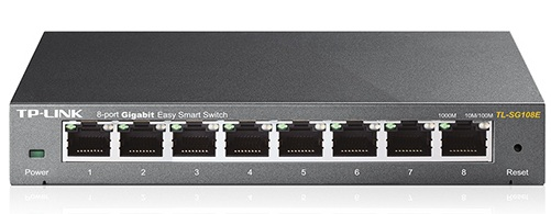 سوئيچ شبکه - SWITCH  -TP-LINK TL-SG108E - 8-Port Gigabit Easy Smart Switch