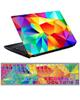 - استیکر لپ تاپ رنگی رنگی کد0220-99برای15.6اینچ+برچسب فارسی کیبورد