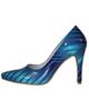 - کفش زنانه مدل 106 - آبی - طرح دار - پاشنه بلند - مجلسی