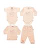 - ست 4 تکه لباس نوزادی دخترانه طرح خرس و قلب کد t77285493  -g88g