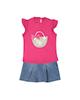 Fiorella ست بلوز و دامن نوزادی دخترانه مدل 2091124-88 - صورتی آبی
