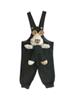 - سرهمی نوزادی مدل LIN1003S - سبز یشمی تیره - خالخالی طرح خرگوش