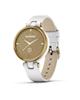 Garmin ساعت هوشمند  Lily Light Gold Bezel with White Case با بند چرمی