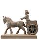 تندیس و پیکره شهریار مجسمه مدل هدیه آور کالسکه ران حجمی جنس پلیاستر کد MO2370