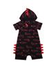- سرهمی نوزادی طرح تمساح کد 12 - مشکی قرمز