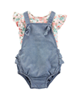 Carters ست تی شرت و سرهمی نوزادی دخترانه کد 1279 - آبی روشن