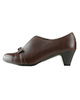 Shifer کفش پاشنهدار زنانه چرم مدل 5293A - قهوهای - رسمی و مجلسی