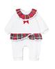 Fiorella سرهمی نوزادی دخترانه مدل لاچین کد 2981 - سفید