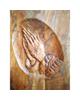 - تابلو منبت کاری طرح دستان دعاگو کد Km0024