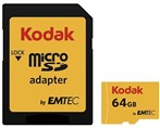 64GB-Kodak UHS-I U1 Class 10 85MBps 580X microSDXC With Adapter