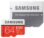 64GB-Evo Plus UHS-I U3 Class 10 microSDXC With Adapter