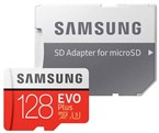 128GB-Evo Plus UHS-I U3 Class 10 100MBps microSDXC With Adapter