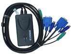 KVM-کی وی ام Faranet FN-K2PS 2Port PS/2 Cable KVM Switch