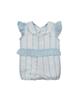 Fiorella سرهمی نوزاد دخترانه مدل fi-2044 - راه راه سفید آبی - نخپنبه