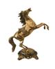 - مجسمه دکوری برنجی مدل اسب سرکش کد ۸۵