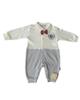 لباس نوزادی - سرهمی نوزادی پسرانه فلکسی مدل 213160 - سفید سرمه ای