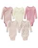 لباس نوزادی - بادی نوزادی لوپیلو کد sor5 مجموعه 5 عددی-صورتی -پوست پیازی -شیری