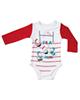 لباس نوزادی - بادی نوزادی پولونیکس طرح راگبی مدل 04 - قرمز سفید