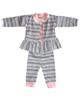 - ست 3 تکه لباس نوزادی اچ اند ای کد 202 - سفیدگلبهی با طرح سرمه ای