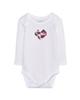لباس نوزادی - بادی نوزادی لوپیلو کد 1454-2 - سفید