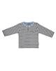 بی بی ناز تی شرت نوزادی پسرانه مدل 1501497-5990 - طوسی راه راه سرمه ای -نخ