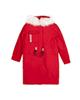 Jooti Jeans کاپشن بلند زنانه کد 94722606 - قرمز - کلاه دار با خز سفید