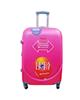 - چمدان تراول کار مدل T24 سایز متوسط - صورتی روشن - پلی کربنات