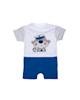 Fiorella سرهمی نوزاد پسرانه مدل fi-2008 - سفید آبی تیره - آستین کوتاه