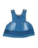 - سارافون نوزادی مدل 3000  - آبی - طرح جین