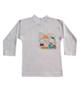 - تی شرت آستین بلند نوزاد کد Y-010 - سفید - طرح خرس