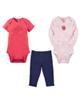 Carters ست 3 تکه نوزادی دخترانه طرح توت فرنگی کد M273- سفیدگلبهی سرمه ای