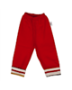 آدمک شلوار نوزاد مدل DJ کد 02 - قرمز - نخ - طرح دار