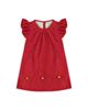 - پیراهن نوزادی دخترانه کد 1016 - قرمز