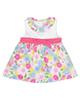mayoral پیراهن نوزادی دخترانه مدل MA 185055 - سفید صورتی آبی - گل دار