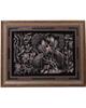- تابلوی قلمزنی سجاد جعفری مدل گل و مرغ کد M5070