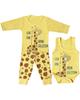 لباس نوزادی - ست 3 تکه لباس نوزادی مدل زرافه کد tak