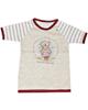 نیروان تی شرت آستین کوتاه نوزادی طرح خرس ملوان - کرم سفید زرشکی
